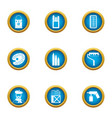 applied art icons set flat style vector image vector image
