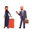 arab family characters vector image