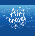 banner for air travel with aircrafts in sky vector image