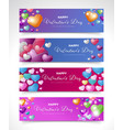 banner for valentine day vector image vector image