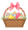 Basket easter isolated vector image vector image