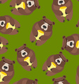 Bear seamless pattern background of wild animals vector image vector image