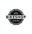 bicycle bike bike shop bike club logo icon vector image vector image