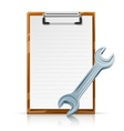 clipboard with spanner vector image