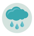cloud with rain flat icon vector image vector image