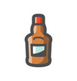 cognac bottle alcohol icon cartoon vector image vector image