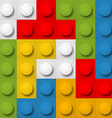 Color constructor blocks seamless background vector image vector image
