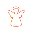 colorful gradient pink to orange christmas angel vector image vector image