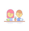 coworkers marketing icon for business vector image vector image