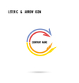 Creative letter C icon logo design vector image vector image