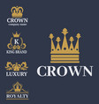 crown king vintage premium white badge heraldic vector image vector image