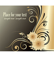 Dark Golden Floral Design with Text Space vector image vector image