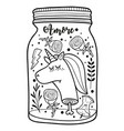 dead unicorn head in the jar for vector image vector image