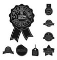 design of emblem and badge icon collection vector image
