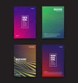 different brochures design templates vector image