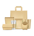 eco friendly paper package set vector image vector image