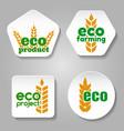 Eco grain product logo set