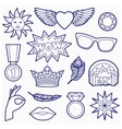 Fashion Patches Set on Squared Paper vector image vector image