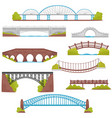 flat set of brick iron wooden and stone vector image