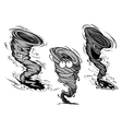 Furious cartoon tornado and hurricane characters vector image vector image