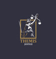 goddess justice themis vector image vector image