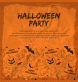 halloween party flyer vector image