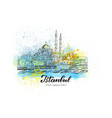 hand drawn sketch new mosque vector image