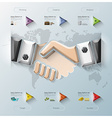 Hand Shake Three Dimension Polygon Business vector image vector image