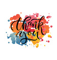 Hand sketched Thank you text as logotype badge and