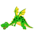 Happy dragon cartoon flying vector image vector image