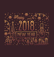 happy new year horizontal banner greeting card or vector image vector image