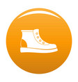 hiking boots icon orange vector image vector image