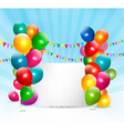 Holiday background with colorful balloons vector image vector image