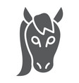 horse glyph icon animal and zoo vector image vector image
