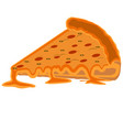 isolated pizza slice vector image