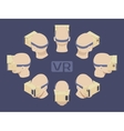 Isometric cardboard virtual reality headset vector image