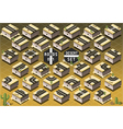 Isometric Roads on Desert Terrain vector image vector image