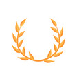 laurel empire wreath on a vector image vector image