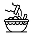 lunch bowl icon outline style vector image vector image
