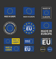 made in europe icon set european union product vector image vector image