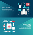 Medicine Concept Set of Flat Style for Web Banners vector image vector image