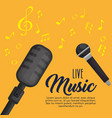 microphones musical festivel label vector image vector image