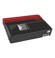 mini dv cassette vector image