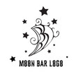 moon logo for bar cafe as sign vector image vector image