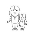 mother with her daughter together family vector image vector image