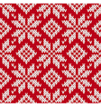 Nordic knitted seamless pattern vector image vector image