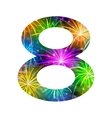 Number of colorful firework eight vector image vector image