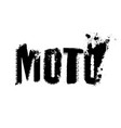 off-road moto lettering vector image vector image