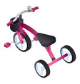 pink tricycle icon isometric style vector image