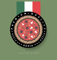 pizza logo template for cafe or restaurant vector image